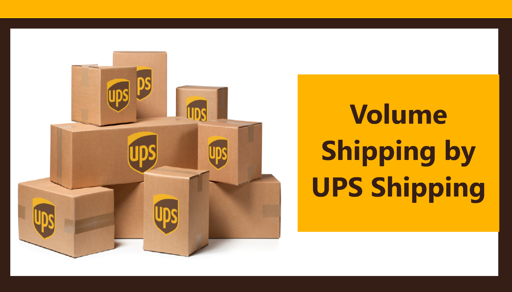 Volume Shipping by UPS Shipping